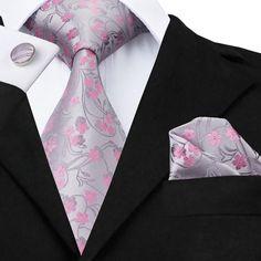 The Pink Mint - w/Pocket Square & Cufflinks
