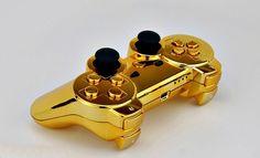 PS3-kontroll, men IKKJE i gull!
