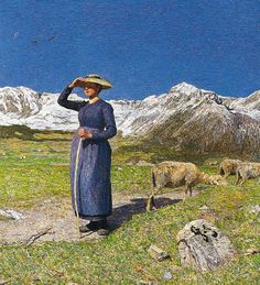 GIOVANNI SEGANTINI - Noon on the Alps.Giovanni was an Italian born Swiss artist.There is a Segantini Musuem in St.Moritz with many of his paintings.PS .... NO CAMERAS ALLOWED !