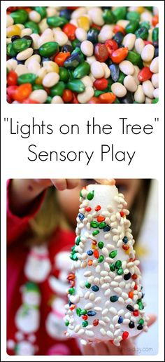 """Lights on the tree"" sensory and fine motor play"
