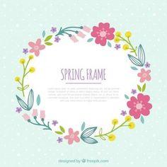 Desenho floral para a primavera