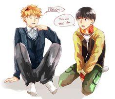 """faiell: Hidekane """"clothes swap! """""""