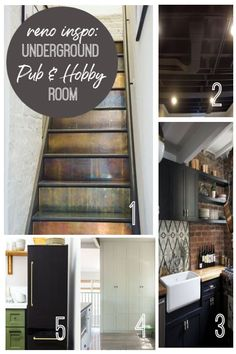 We're making a DIY home pub and hobby room in our basement - and we're sharing our first mood board .