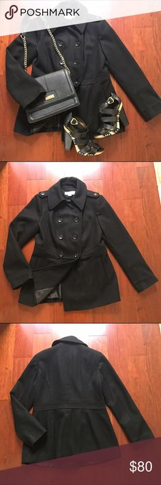 Michael By Michael Kors Wool Coat Great wool coat! Perfect year round! 60% Wool!  In great condition! Only flaw is wear on the label inside coat. MICHAEL Michael Kors Jackets & Coats