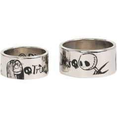 the nightmare before christmas true love never dies ring set - Nightmare Before Christmas Wedding Rings