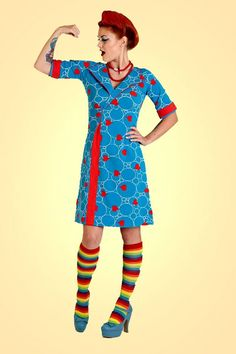 Buy your new dress on newdress. King Louie, Retro Dress, Danish Design, Spring 2016, My Wardrobe, Knitted Fabric, Frocks, Sewing Ideas, New Dress