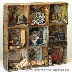Today I have a fun and pretty long Sizzix tutorial to share with you, using Eileen Hull's Candy Drawer ScoreBoards die , and a lot of othe...