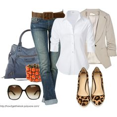 Luv this look...casual but dressy in a way...comfortable too...what more can u ask for lol