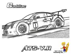 printable coloring pages of cadillac - photo#21