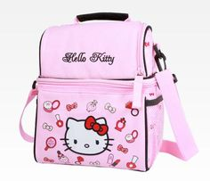 Hello Kitty Lunch Bag with Container: Cosmetics.on her list Hello Kitty Bedroom, Hello Kitty House, Hello Kitty Bag, Hello Kitty Items, Kitty Kitty, Hello Kitty Merchandise, Hello Kitty Backpacks, Hello Kitty Accessories, Miss Kitty