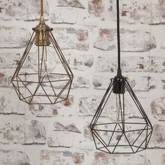 Lantern Cage Ceiling Lights - Decorative lighting is becoming an artform in itself, with designs that catch the eye whether the bulb is on or off. Consider mixing different styles with complementary tones or mixed metals. Perfect for any living room. Home Lighting, Pendant Lighting, Lighting Ideas, Ceiling Rose, Ceiling Lights, Modern Lanterns, Wood Lamps, Interior Modern, Interior Design