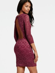 Open-back Lace Dress. Have in winterberry color