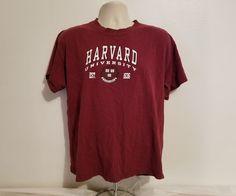 NCAA Harvard University 1636 Adult Large Burgundy TShirt