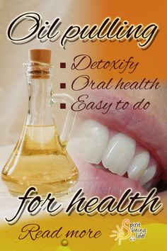 Oil pulling for health and well being. Keep your teeth white. Easy DIY health. A Simple Healing Method That Anyone Can Do at Home! Read more... Oil Pulling, Holistic Wellness, White Teeth, Oral Health, How To Stay Healthy, Natural Health, Healthy Lifestyle, Easy Diy, Healing