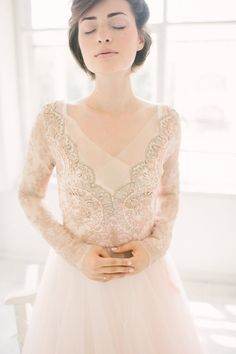 Beautiful detailing on this wedding gown