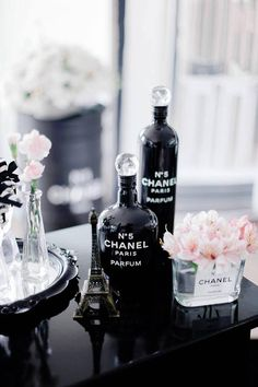 Decor from a Chanel Inspired Birthday Party via Kara's Party Ideas | KarasPartyIdeas.com (7)