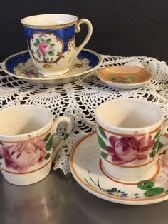 Vintage Miniature Toy Dishes Tea Set Made Japan Floral Motif Mixed Lot China #Unbranded