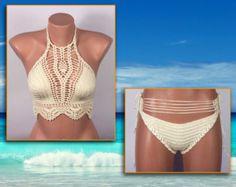 EXPRESS CARGO Full Lined Beige Crochet Bikini Women by formalhouse