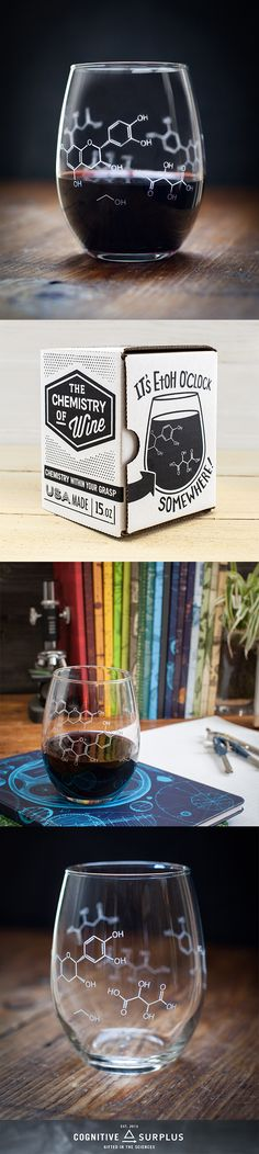 • • • • • Gift Option • • • • • Add A Gift Bag for $5.95 Raise this glass when you pass your comps, to celebrate a successful thesis review, or over a bottle of wine shared with your lab partner. (Kee