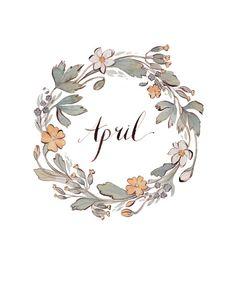 April wreath by Kelsey Garrity Riley (via Etsy).