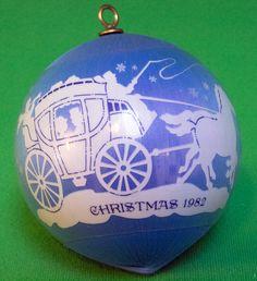 """1982 Hallmark Keepsake Satin Ornament, """"Love"""" - Still In Box"""