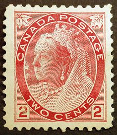 Canada Carmine Die I 1898 Queen Victoria VF Mint Hinged, well centered clear all around, all full gum, Fresh Intense Color. Queen Victoria Prince Albert, Victoria And Albert, Postcard Postage, Postage Stamps, Timbre Canada, Victorian Era, Victorian History, Rare Stamps, British Royal Families