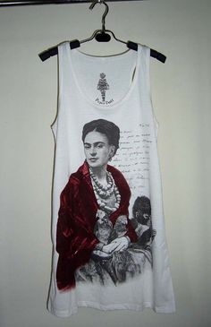 Hey, I found this really awesome Etsy listing at https://www.etsy.com/listing/161163945/frida-kahlo-shirt-mexican-artist-art