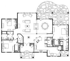 Spanish Hacienda Style Courtyard House Plans Courtyard Style Home ...
