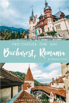 While visiting Bucharest you can easily take day tours to other parts of Romania. If stunning and spooky castles are your thing check out this two castles, one day tour! | Bucharest Romania | Bucharest travel | Romania Travel | Peles Castle | Dracula's Castle | Guided Tours from Bucharest | Day trip from Bucharest
