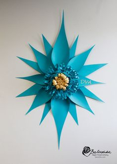 Large Paper Flower 18 X 38 with Custom Monogram Your by balushka