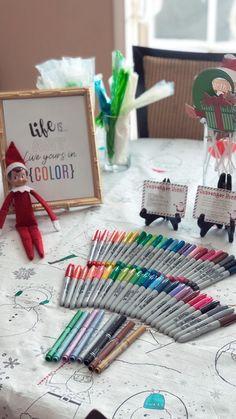 Life Is Art.  Art.  Sharpies.  Metallic. Elf On The Shelf.  Christmas Fun.  Christmas.  Tradition.  Elves.  Santa's Elves.  Scavenger Hunt.
