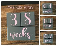 LARGE Baby Age Blocks Milestone Blocks Baby Shower Gift