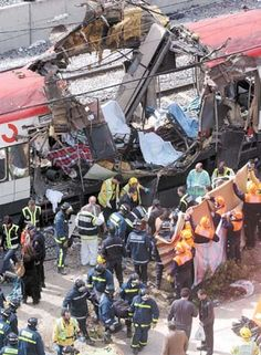 Coordinated near-simultaneous attacks targeting commuter trains in Madrid on the morning of March 11, 2004. Beginning at 7:37 am and continuing for several minutes, 10 bombs exploded...