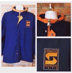 Vintage Syracuse 1870 Throwback  Starter Jacket L Rare! Orangemen Long  | eBay