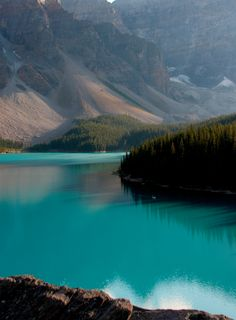 Lake Moraine, Banff National Park, Canada - I have never seen water quite that azure before or since.