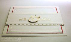 Stampin' up! Wedding card. Mr. & Mrs.