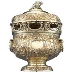George III Silver Gilt Covered Monteith