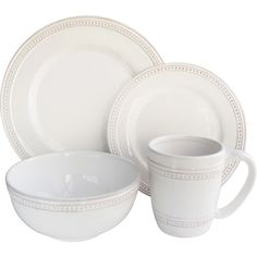 Laurel Foundry Modern Farmhouse Hauser 16-Piece Dinnerware Set