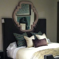 Drexel Heritage you rocked our world with this bed and snuggle mirror. #HPMkt  Drexel Heritage Showroom IHFC Main