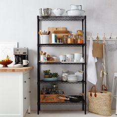 Wire Shelves for Kitchen Cabinets . Wire Shelves for Kitchen Cabinets . How to Setup A Brand New Kitchen Wire Kitchen Rack, Metal Kitchen Shelves, Kitchen Cupboard Storage, Kitchen Bookshelf, Kitchen Shelf Unit, Kitchen Pantry, Kitchen Items, Kitchen Corner, Open Kitchen