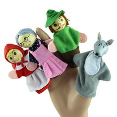 Amazon.com : 8X Finger Puppets . Children's storytelling helper, hand puppets .The Three Little Pigs TY038 : Baby