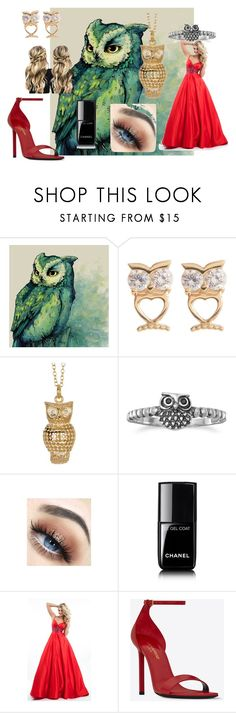 """""""#annabeth chase ball"""" by ronnie-555 on Polyvore featuring Candela, Anna Beck, BillyTheTree, Chanel, Rachel Allan and Yves Saint Laurent"""