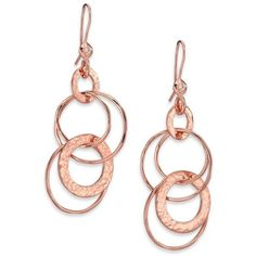 Ippolita Rosé Glamazon Diamond Jet Set Drop Earrings ($595) ❤ liked on Polyvore featuring jewelry, earrings, rose gold, ippolita, 18k diamond earrings, earring jewelry, diamond jewellery and ippolita earrings