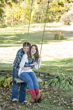 Take turns pushing each other on a swing — we guarantee you'll crack a smile.