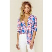 """Wear it as much as you like, the Hunter Button Down Shirt by Rails is our favorite flannel shirt to wear with denim shorts or over a distressed T-shirt, it never gets old. Features long sleeves, button down front and super soft fabrication.  ImportedDry Clean Only100% RayonFit Guide:Model is 5ft 7 inches; Bust: 32"""", Waist: 24"""", Hips: 34""""Model is wearing a size XSRelaxed FitShoes Featured Not Available For Purchase"""