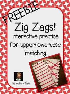 Speechie Freebies: Zig Zags for Upper/Lowercase Matching. Pinned by SOS Inc. Resources. Follow all our boards at pinterest.com/sostherapy/ for therapy resources.