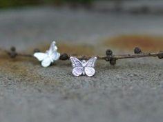 Motýlí Ag naušnice Stud Earrings, Floral, Flowers, Jewelry, Florals, Earrings, Jewlery, Jewels, Stud Earring
