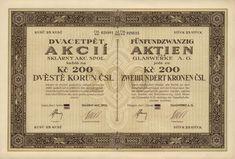 Sklárny akc. spol. Loket (Glaswerke A.G. Elbogen) Personalized Items, Promissory Note, Corning Glass