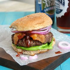Coffee-Rubbed Cheeseburgers with Texas Barbecue Sauce by Tracey's Culinary Adventures, via Flickr