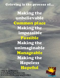 Grieving is the process of ....... | The Grief Toolbox